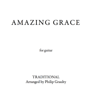 The title page to the score of Amazing Grace.