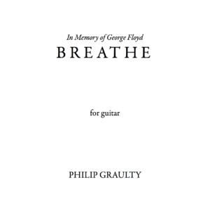 The title page to the score of Breathe.